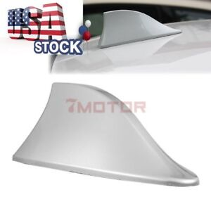Us Silver Shark Fin Style Roof Mount Fm Am Radio Antenna Aeria For Ford Focus 7m