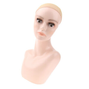 Female Mannequin Head Bust Wigs Hat Jewelry Display Model Stand Manikin