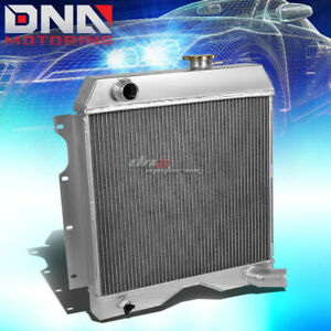 3 Row Tri Core Aluminum Racing Radiator For 54 58 Willys Jeep Truck Wagon 6cyl