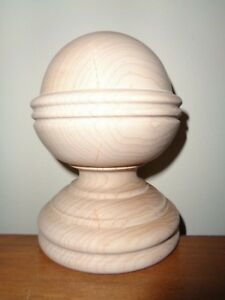 Wood Finial Unfinished Maple Newel Post Finial Double Ended Screw 22 1