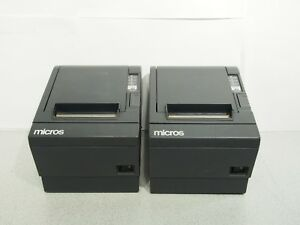 Lot Of 2 Micros Epson Tm t88iii M129c Thermal Idn Printer No Power Supply T