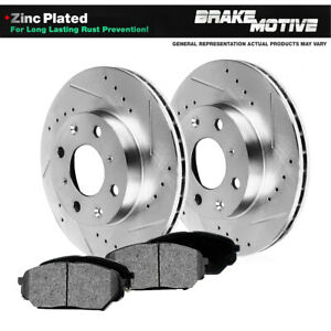 Front Drill And Slot Brake Rotors Metallic Pads For 1991 2002 Saturn Sc Sw
