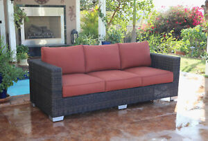 Brayden Studio Fults Patio Sofa With Cushion