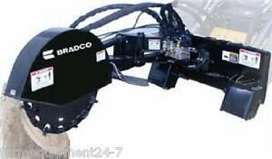 Bradco Sg26 26 Cutting Wheel Severe Duty Skid Steer Stump Grinder 16 22gpm