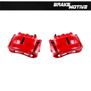 Front Red Powder Coated Brake Calipers For 2005 2008 Ford F150 Lincoln Mark Lt