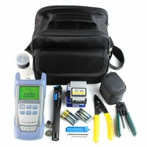 Fiber Optic Ftth Tool Kit With Fc 6s Fiber Cleaver And Optical Power Meter Bag