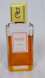Vintage Rare 1940s Fame By Corday Perfume Bottle W Perfume Carved Bakelite Top
