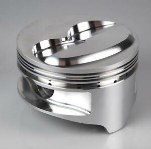 Ross Pistons Forged Dome 4 030 Bore 1 16 1 16 1 8 Ring Sbc Set Of 8 90761