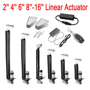 2 16 Inch Black Linear Actuator Stroke 225 Pound Max Lift Output 12v Volt Dc