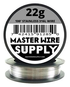 Mws Ss 316l 100 Ft 22 Gauge Awg Stainless Steel Resistance Wire 22g 100