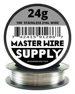 Mws Ss 316l 100 Ft 24 Gauge Awg Stainless Steel Resistance Wire 24g 100