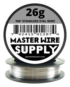 Mws Ss 316l 100 Ft 26 Gauge Awg Stainless Steel Resistance Wire 26g 100