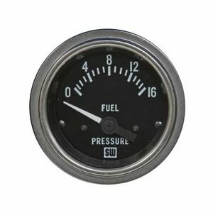 Stewart Warner Deluxe Series Electrical Fuel Pressure Gauge 2 1 16 Dia 82333