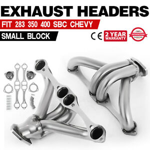 Hq Exhaust Shorty Header For Chevy Small Block Hugger Sbc 283 350 400 Us