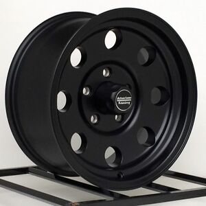 15 Inch Black Wheels Rims Jeep Wrangler Cherokee Ford Ranger American Racing New