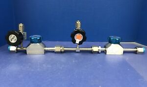 Valve Gas Stick Assy W 2 935 Veriflo Valves And 2 Aptech Ap3600sm Valves