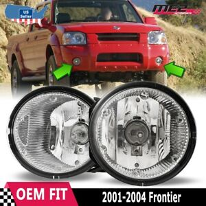 For Nissan Frontier 01 04 Factory Bumper Replacement Fit Fog Lights Clear Lens