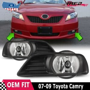 For Toyota Camry 07 09 Factory Replacement Fit Fog Lights Wiring Kit Clear Lens