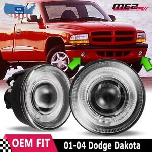 For Dodge Dakota 01 04 Factory Replacement Halo Projector Fog Lights Clear Lens