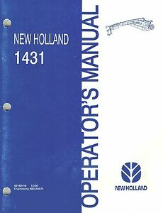 New Holland 1431 Discbine Disc Mower conditioner Operator s Manual new