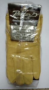 12 Pairs Rancher By Plainsman Goatskin Leather Wholesale Work Gloves Large