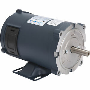 Leeson 24 Volt Dc Motor 1 3 Hp 1 750 Rpm Model 108050 00