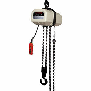Jet Electric Chain Hoist 1 2 ton 20ft Lift 1 phase Model 1 2ss 1c 20