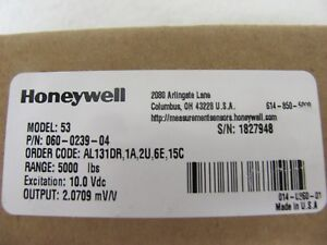 Honeywell Load Cell Model 53 Part 060 0239 04