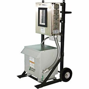 Cep 2 wheel Power Distribution Cart for Generators 480 Volts 3 phase