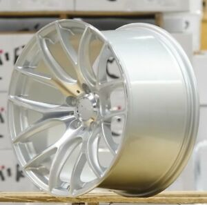 18 Miro 111 Silver Machined Staggered Wheels 18x9 5 20 18x10 5 40 5x120