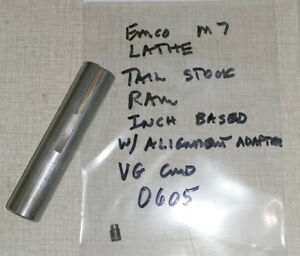 Emco Maximat 7 Lathe Tail Stock Parts Ram And Alignment Screw 0605