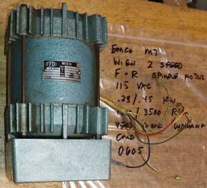 Emco Maximat 7 Lathe 2 Speed F R Spindle Motor Wien Ffd 0605
