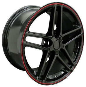 17 Wheels For Camaro Firebird Years 1993 2002 17x9 5 Black Rims Set 4