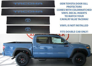 Genuine Oem Toyota Door Sill Protectors For 2016 2018 Tacoma New Free Shipping