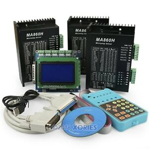 Pro Version 3axis Breakout Board Display Keypad Ma860h Stepper Driver Mach3 emc2