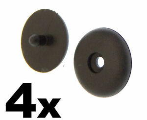 4x Mitsubishi Seat Belt Buckle Buttons Holders Studs Retainer Stopper Rest Pin