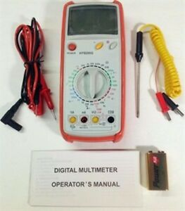 Hy8200g Digital Multimeter Temperature Probe Frequency Compact Electronic Tool
