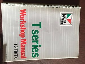 Lister Petter Diesel Engine T Series Workshop Service Manual Ts Tr Tx
