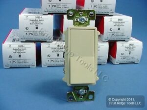 10 P s Ivory Commercial Double Pole Decorator Rocker Light Switches 20a 2622 i