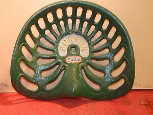 Reduced Dennis Vintage Cast Iron Tractor Implement Seat Farm Collectables