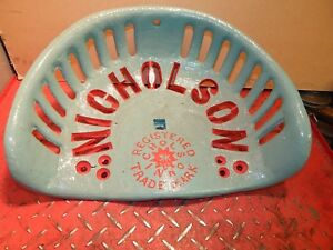 Nicholson Vintage Cast Iron Tractor Implement Seat Farm Collectables