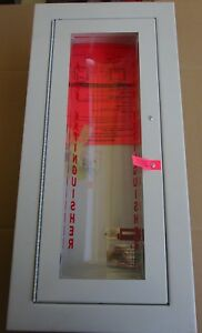 Larsen s Cameo Semi Recessed Bubble Fire Extinguisher Cabinet New Old Stock