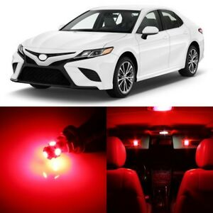 14 X Ultra Red Interior Led Lights Package For 2012 2019 Toyota Camry Tool