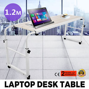 Adjustable Laptop Computer Trolley Mobile Office Desk Hospital Aid Tray