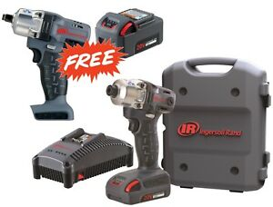 Ingersoll Rand w5111 k12 1 4 Hex Cordless Impact Wrench W 2 Batteries