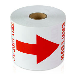 Caution This Side Up Labels Arrow Shipping Warning Stickers 3 X 5 10 Rolls