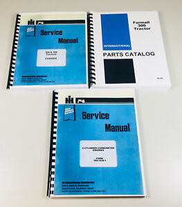 Farmall 300 Tractor Gas Engine Chassis Service Parts Repair Manual Set