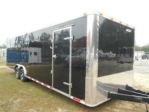 New 2019 8 5 X 28 8 5x28 Black Enclosed Race Cargo Car Hauler Trailer Loaded