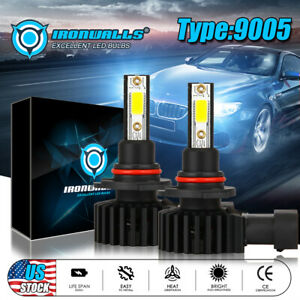 H1 Led Headlight Conversion Kit 1800w 270000lm High Low Or Fog Bulbs White 6000k