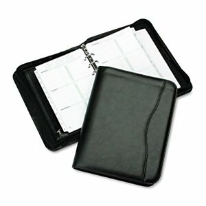Padded Vinyl Zippered Organizer With Business Credit Card Holder